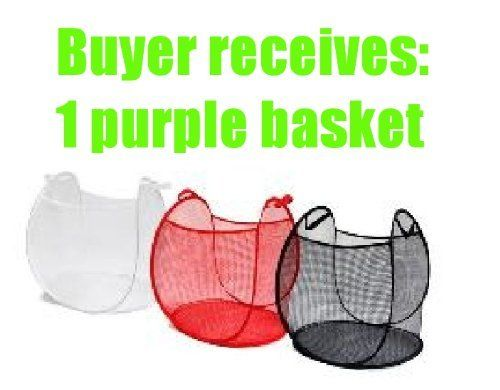 Ikea Purple Laundry Baskets Mesh Net Fabric Collapsible Pop Up