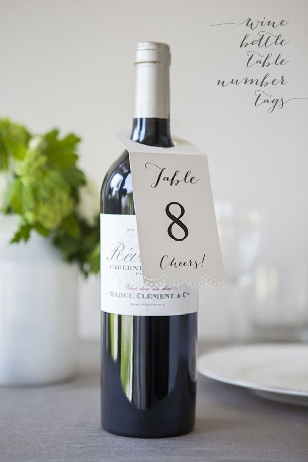 Diy Wedding Make These Lovely Wine Bottle Table Number Hang Tags For Your Or Vineyard Themed