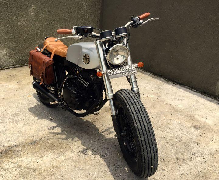 wow! suzuki thunder 250 brat style malamadre motorcycles. awesome