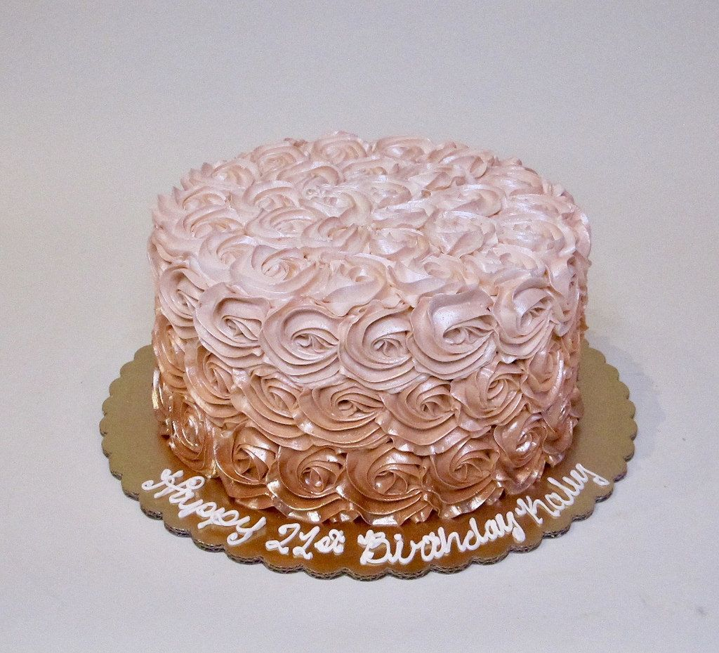 Rose Gold Ombre Rosettes 301387 With Images Birthday Cake