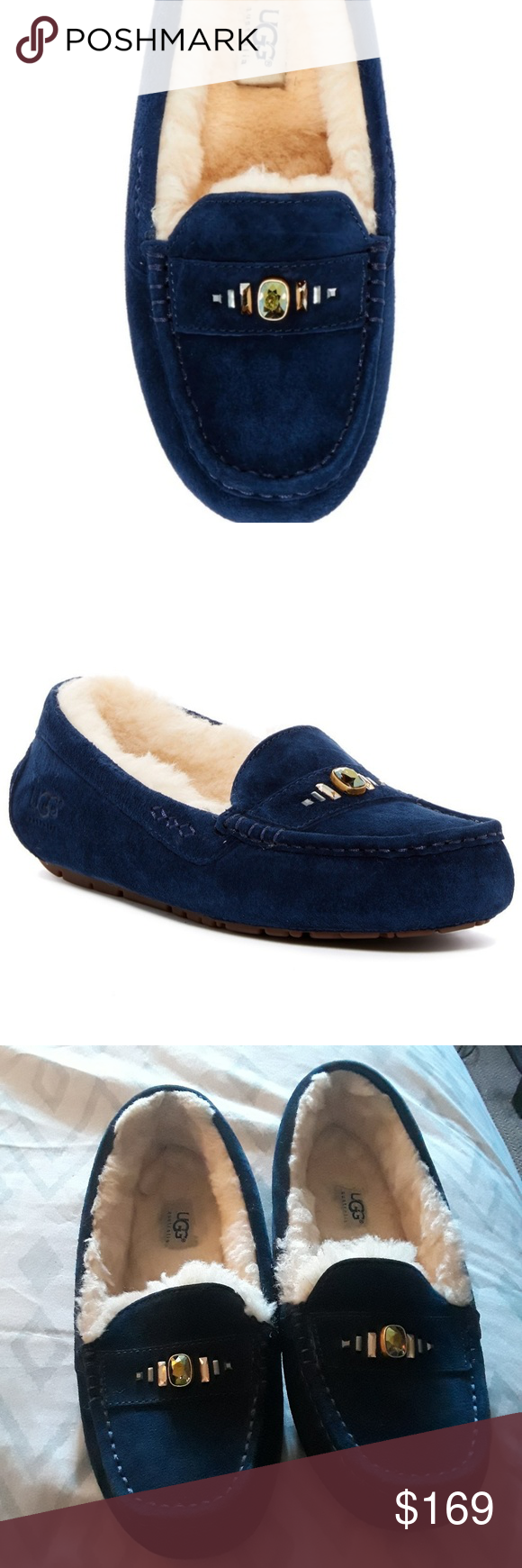 3d676132fc5 NEW Ugg Ansley Chunky Crystal Moccasins SZ 9 Blue These Ugg Ansley ...