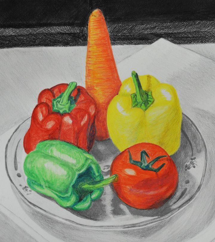Still Life Composition Of Natural Objects Drawings Object Drawing Nature Drawing