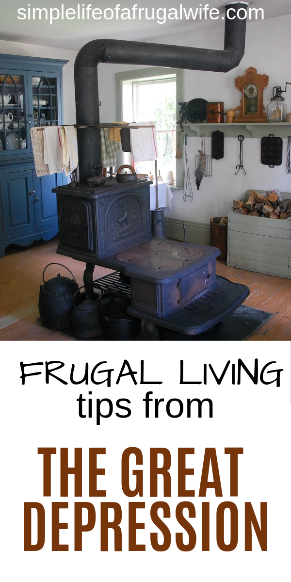 Learn how to live frugally from the people who had to do it for their survival during The Great Depression.  Frugal living tips from that era. frugal living
