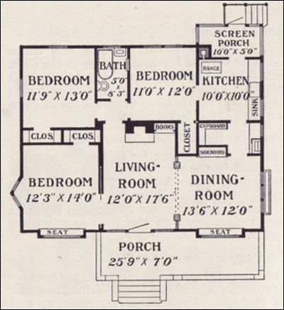 Vintage bungalows plans about bungalows what is a for Layout design of bungalows