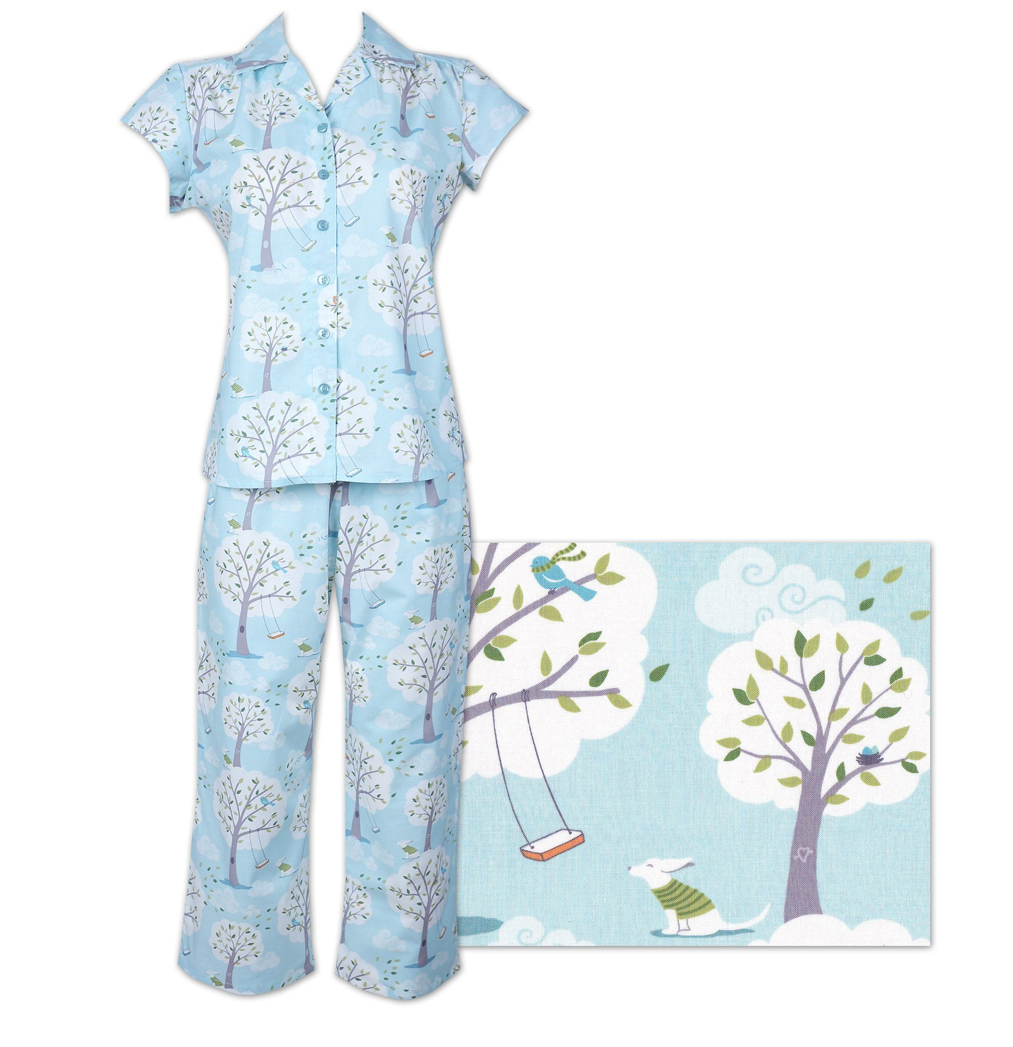 fdd87b2def MADE IN THE USA.. The Cat s Pajamas Windy Morning Women s Cotton ...
