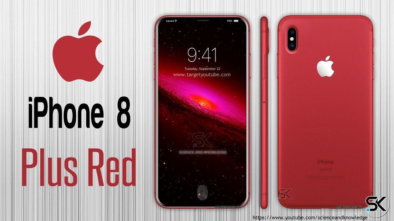 Apple Iphone 8 Plus Red 2017 Revealed Concept Design Iphone Iphone 8 Plus Apple Iphone