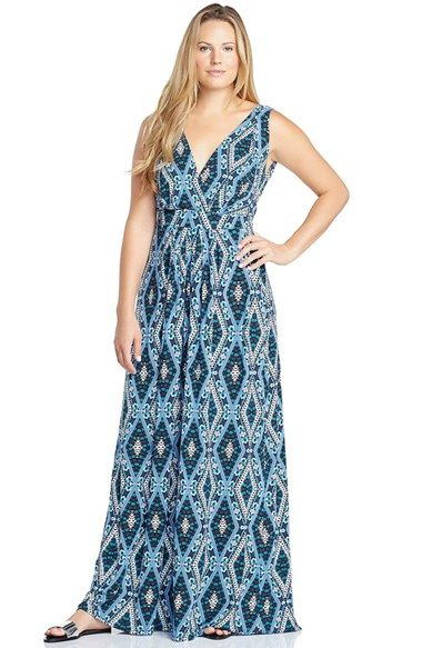 bdfbbef8a Tart+'Chloe'+Print+Empire+Waist+Jersey+Maxi+Dress+(Plus+Size)+available+at+# Nordstrom