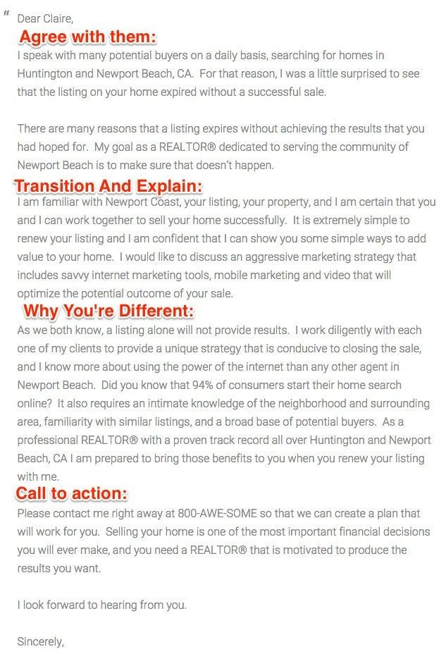 expired listing letter real estate stuff Pinterest Real - real estate cover letter samples