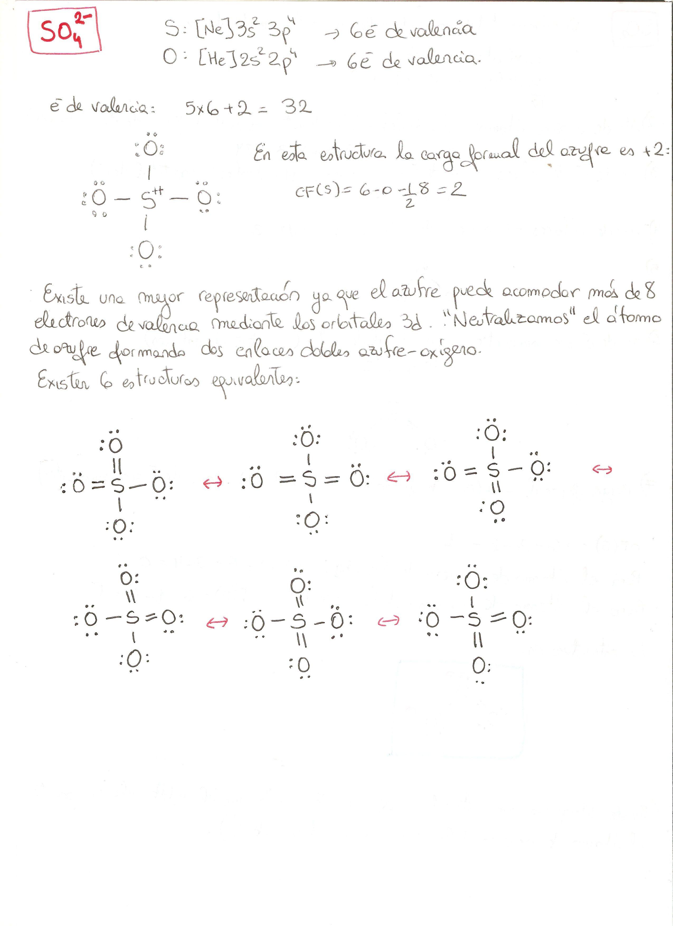 Estructura De Lewis Del Ion Sulfato So4 2 Estructura De Lewis Enlace Químico Ciencias Quimica