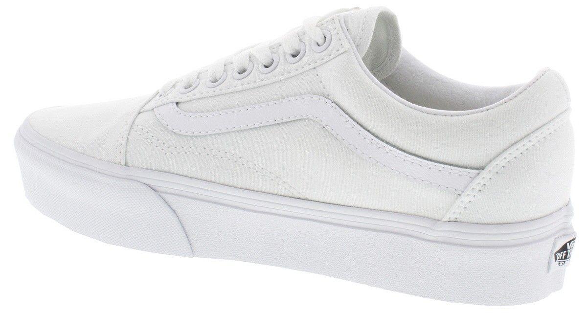Vans Women Old Skool Platform (white true white) Schoenen