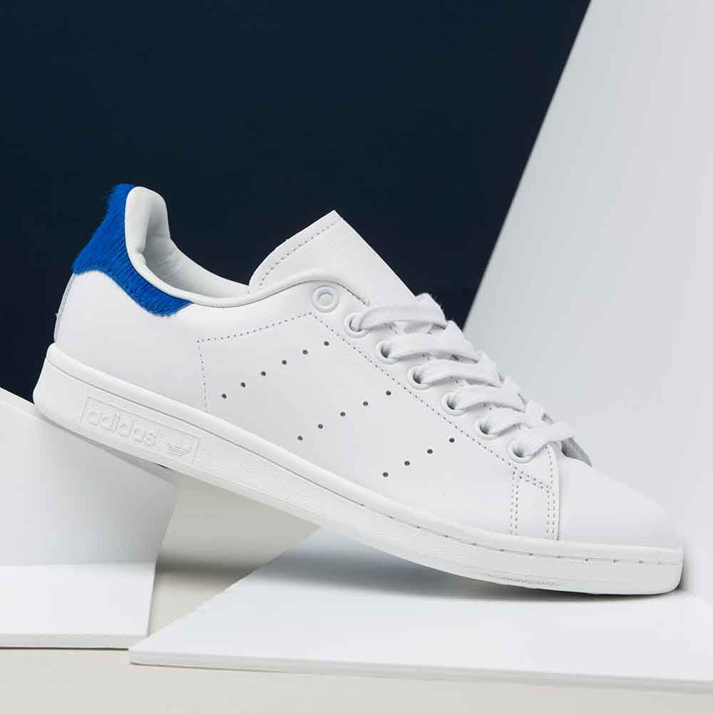 Adidas Originals Womens Stan Smith Pony Hair Trainer