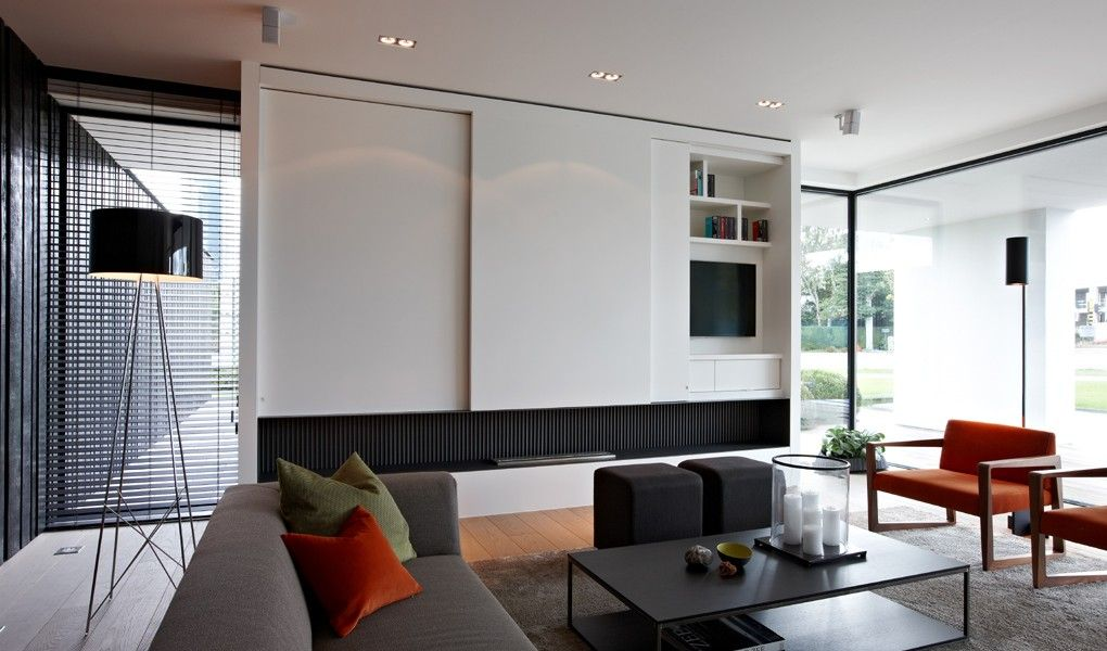 Kijkwoning strak modern tielt west vlaanderen living rooms living