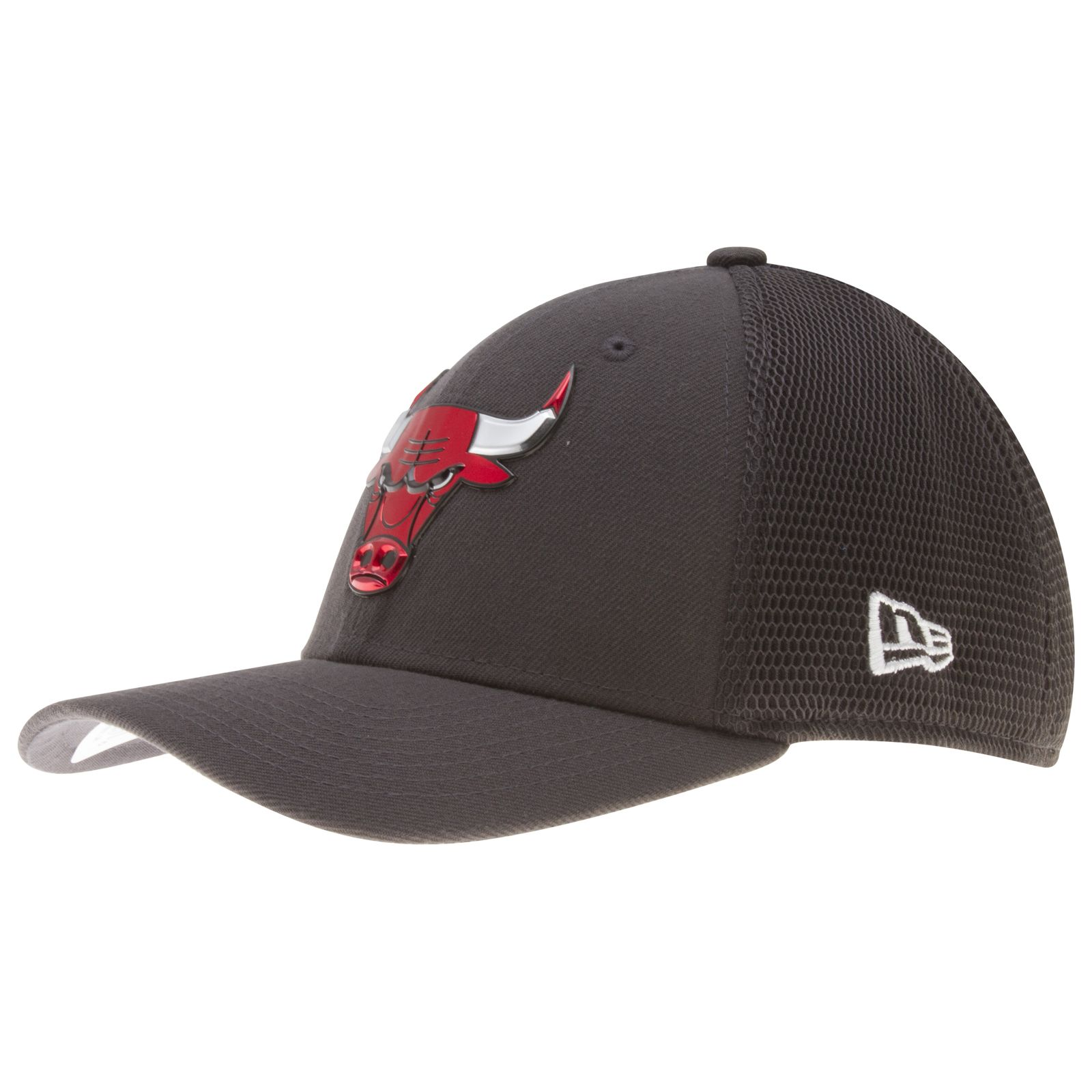 4c0c832064a ... discount code for chicago bulls charcoal liquid chrome bull logo flex  fit hat by new era