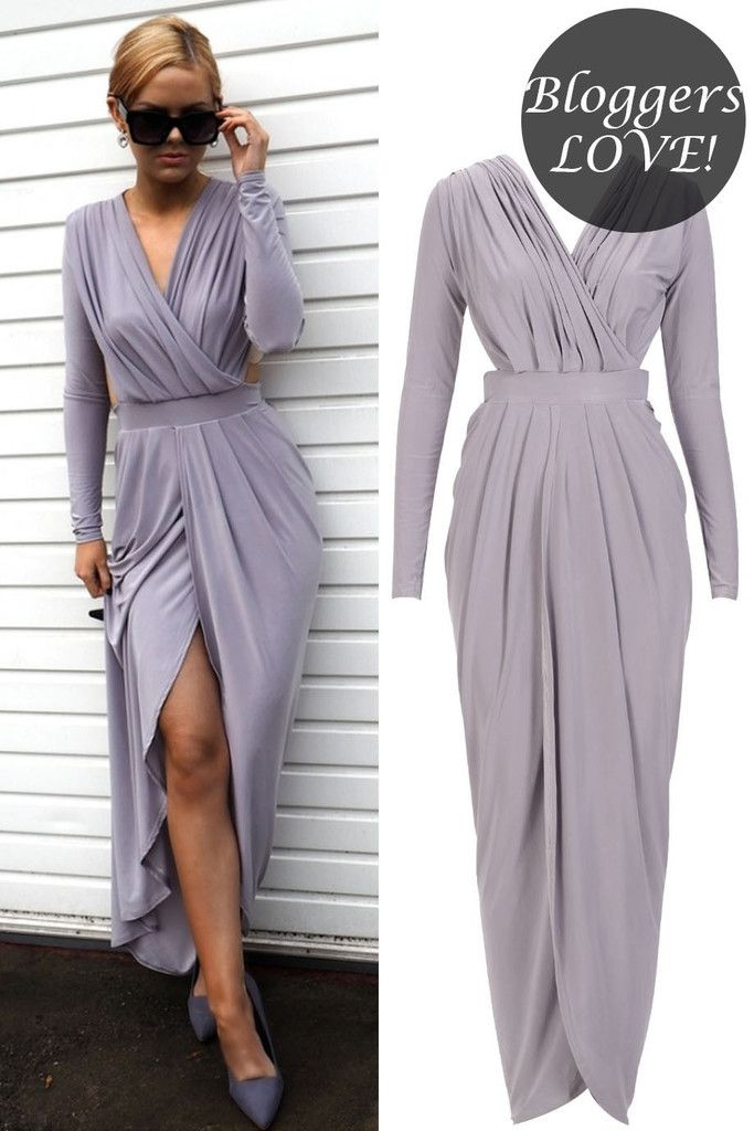 Celebrity Inspired Slinky Gathered Goddess Maxi Dress | Must Have ...