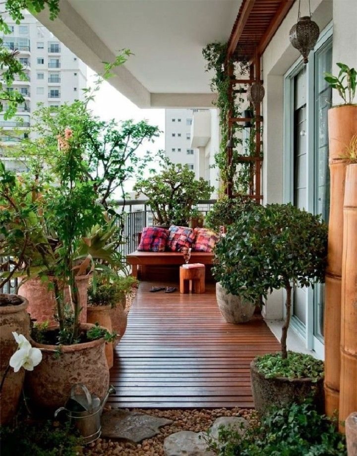 estupendo diseo de terraza con plantas