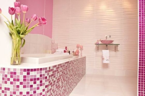 individuelle Farbe für Mosaik Fliesen im Bad Badezimmer - fliesen bad wei