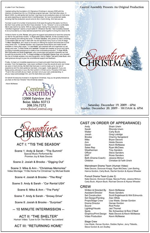 Church Christmas Program Template Signature Christmas Annual - Play program template