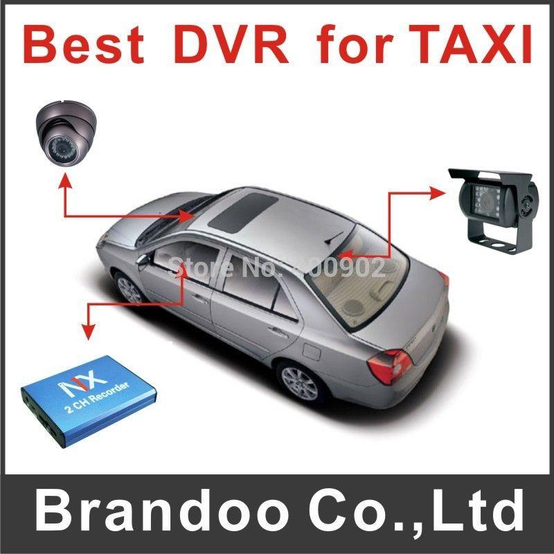 promotion! taxi 2 channel car dvr 2ch cctv motion detection car ...