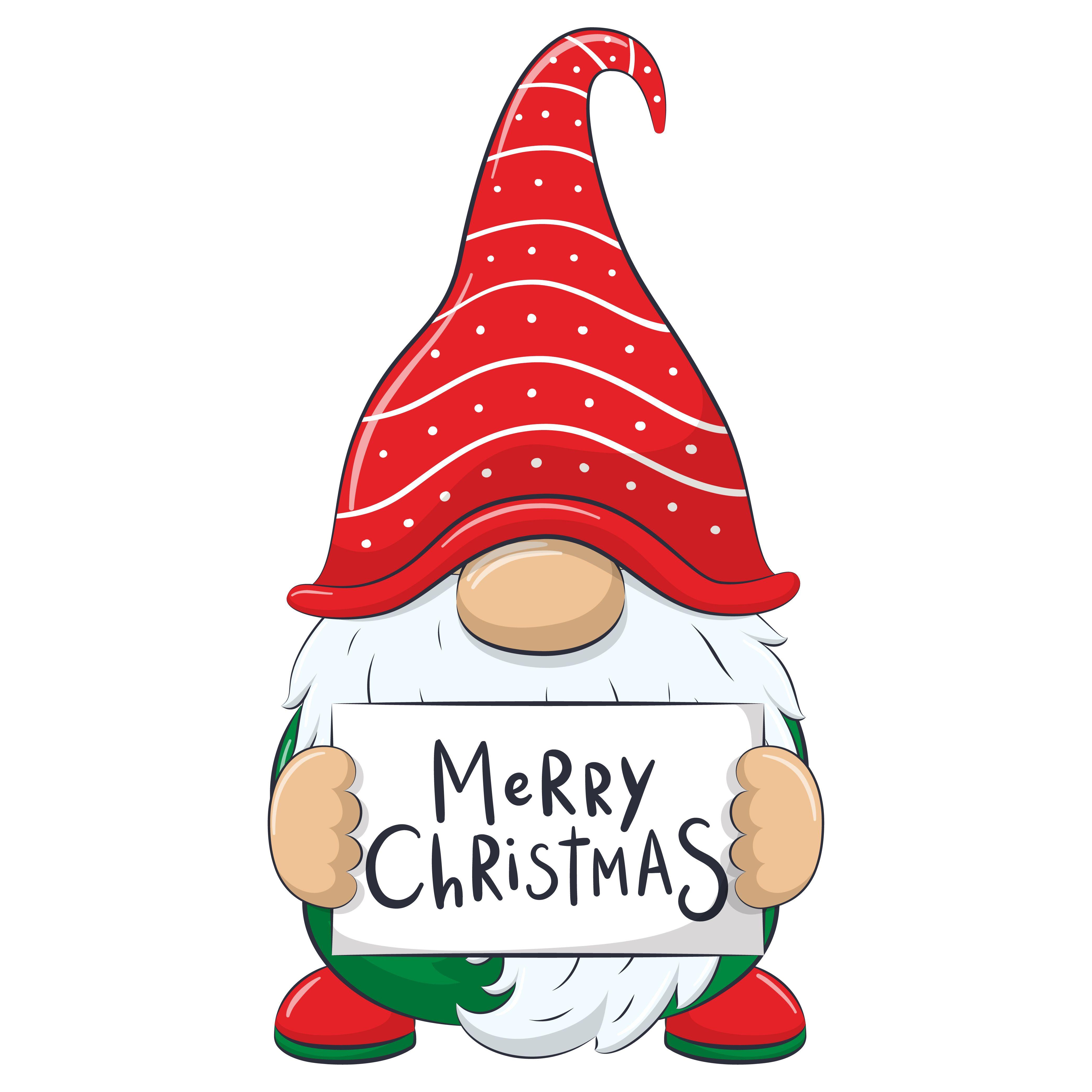 Christmas Gnome Clipart Eps Png Jpeg Nordic Gnome New Year Etsy In 2020 Christmas Gnome Christmas Drawing Christmas Art