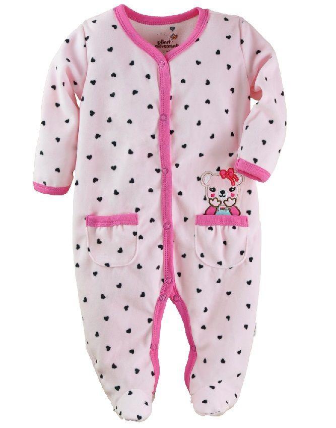 c25f2ed898 Leopardo meninas macacão de bebê de algodão 100% meses recém nascido pijama  macacão corpo terno em Macacão Body de Mamãe e Bebê no AliExpress.com