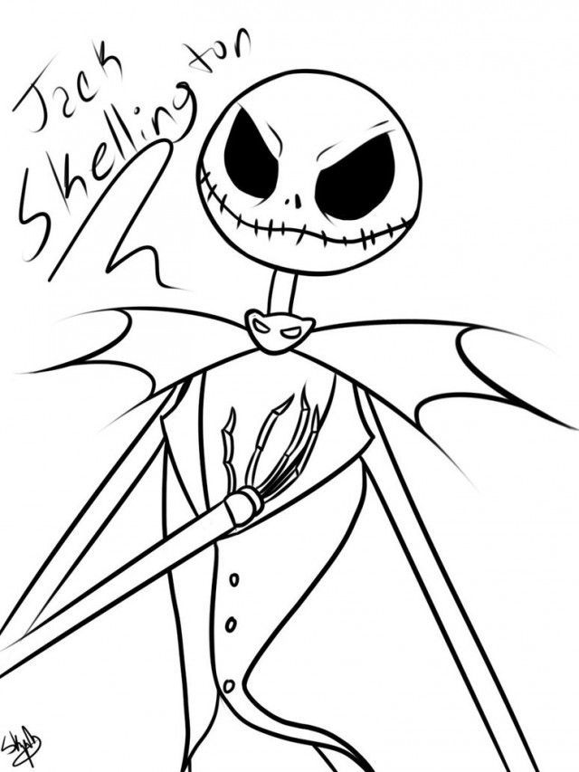 Jack Skellington Coloring Pages 179878