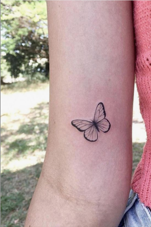 20 Simple And Beautiful Butterfly Tattoos Mainly For Your Fingers Backs And Arms The First Hand Fashion News For Females In 2021 Tiny Tattoos For Girls Butterfly Tattoo Wrist Tattoos For Women