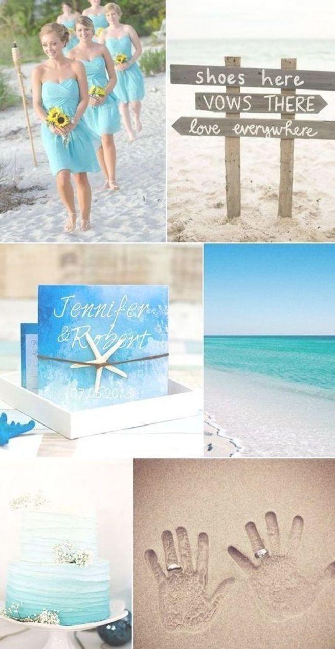 50 Stunning Beach Wedding Ideas Turquoise Aqua Wedding Colors