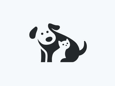 Cats And Dogs Icons And Patterns Dog Icon Cat Icon Animal Logo