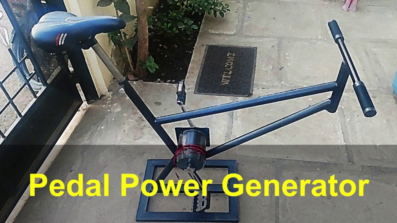 Pedal Power Generation Bicycle Generator Diy Electricity Generator Electrical Engineering Projects Power Generator Pedal Power