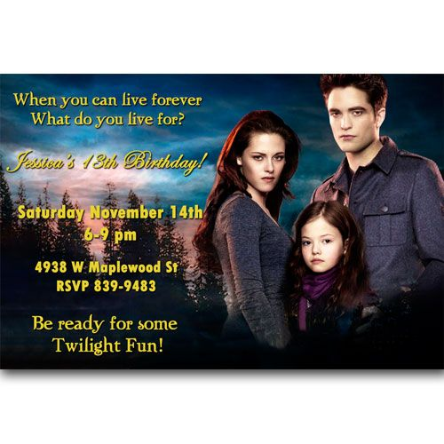 Cool twilight birthday party invitations ideas download this cool twilight birthday party invitations ideas download this invitation for free at http voltagebd Image collections