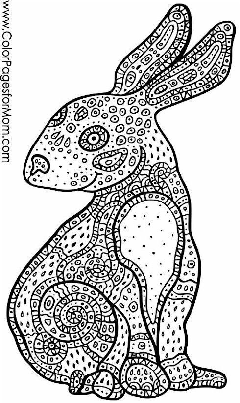 Rabbit coloring page | coloring pages | Pinterest | Rabbit, Adult ...