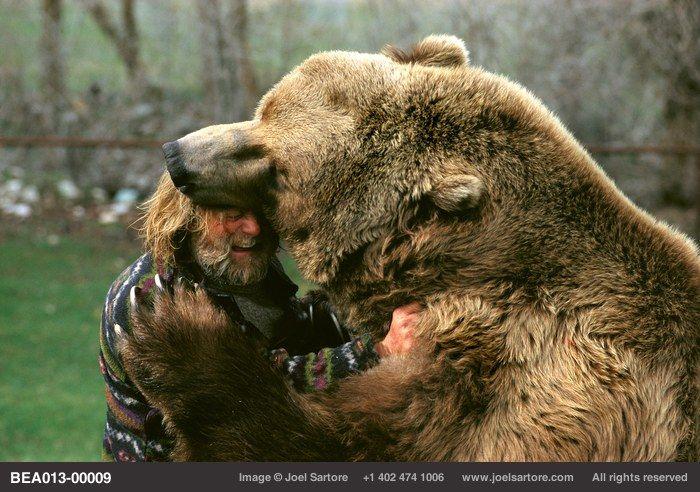 THAT's how big a Kodiak bear is  Doug Seus with Bart, by