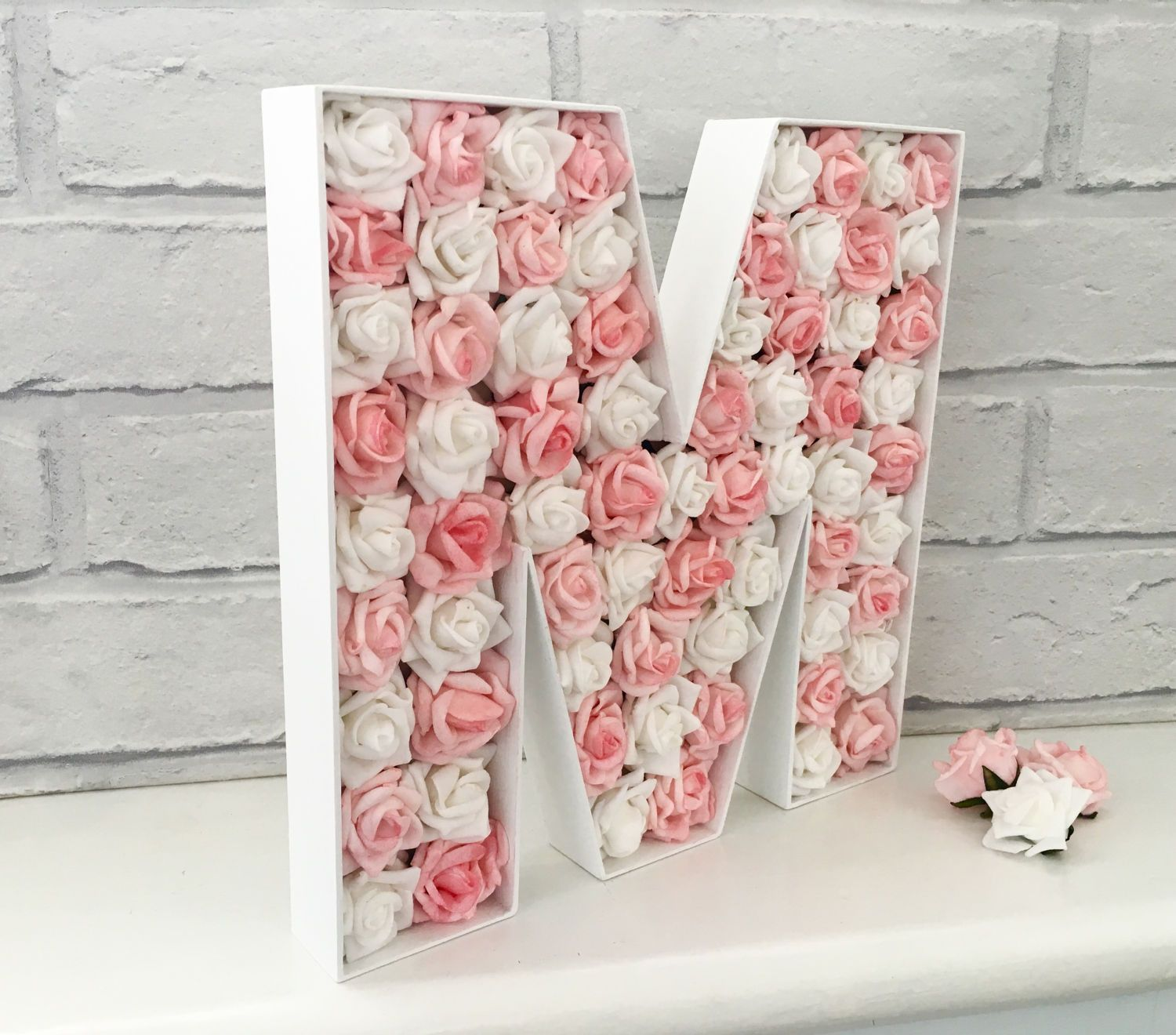 Nursery decor name sign, Wooden floral letter, Large flower letters ...