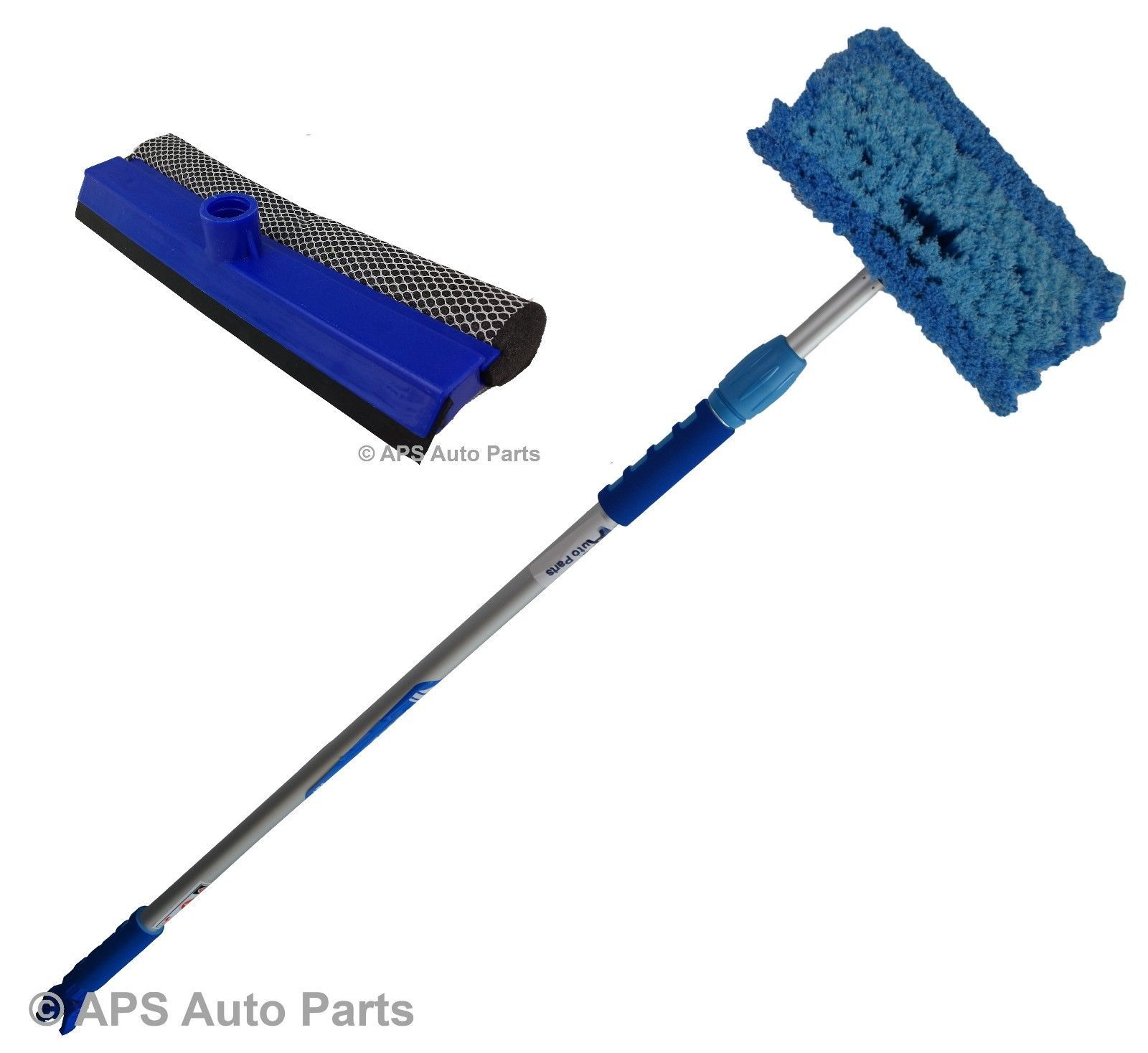 2m Aluminium Telescopic Water Fed Extending Wash Brush Squeegee Car House Window