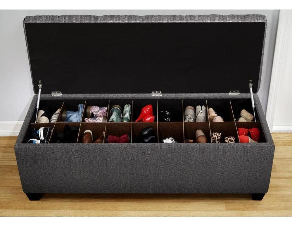 Fantastic Shoe Storage Ottoman Bench With Shoe Storage Shoe Storage Pdpeps Interior Chair Design Pdpepsorg