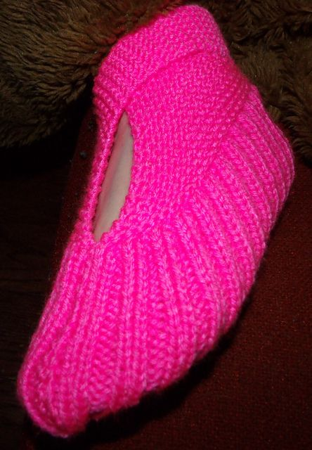 Ravelry Sling Heel Knit Slippers Pattern By Anne Cabot Knitting