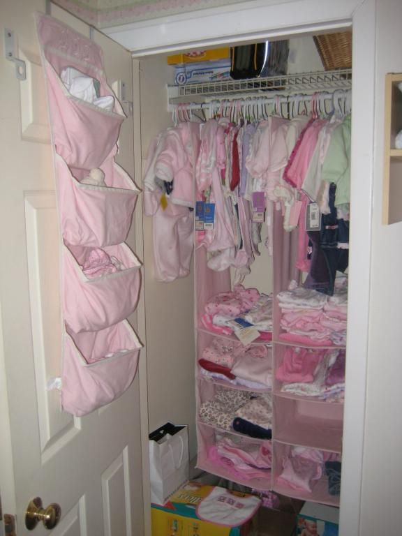 Organizing Baby Clothes How To Organize Your New Baby S Room A Baby Nursery Video Phot Baby Closet Organization Baby Clothes Organization Baby Closet