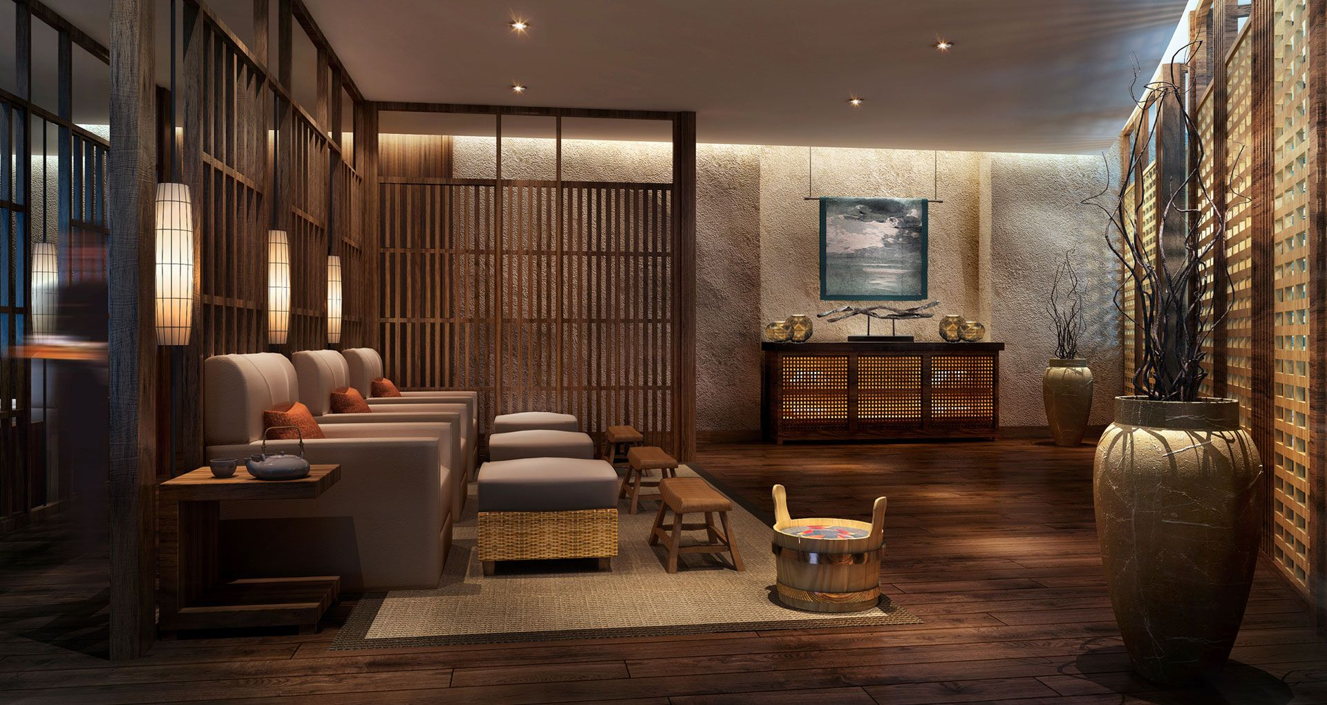 Spa interior design modern house for Spa interior designs