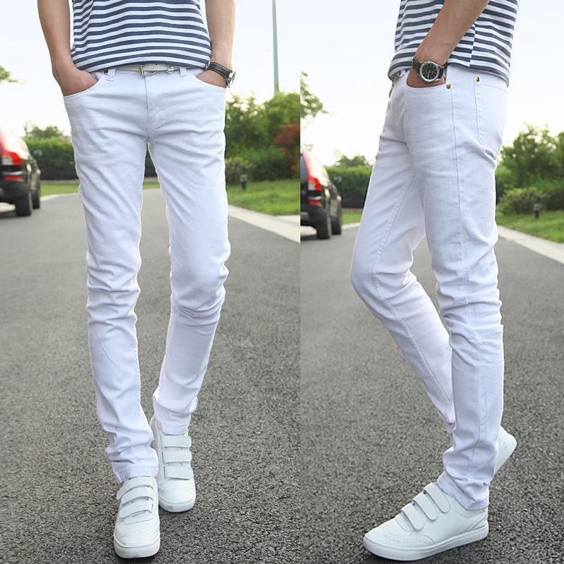 Hot-Selling-High-Quality-Men-Skinny-Jeans-Pants-Vintage-White