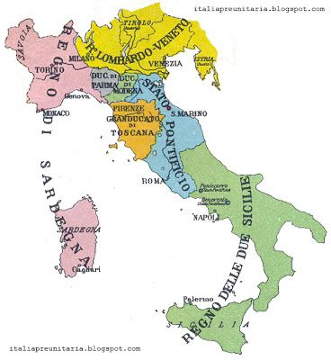 Mappa 1835 Map Carta ITALIA PREUNITARIA: CENTRO-NORD