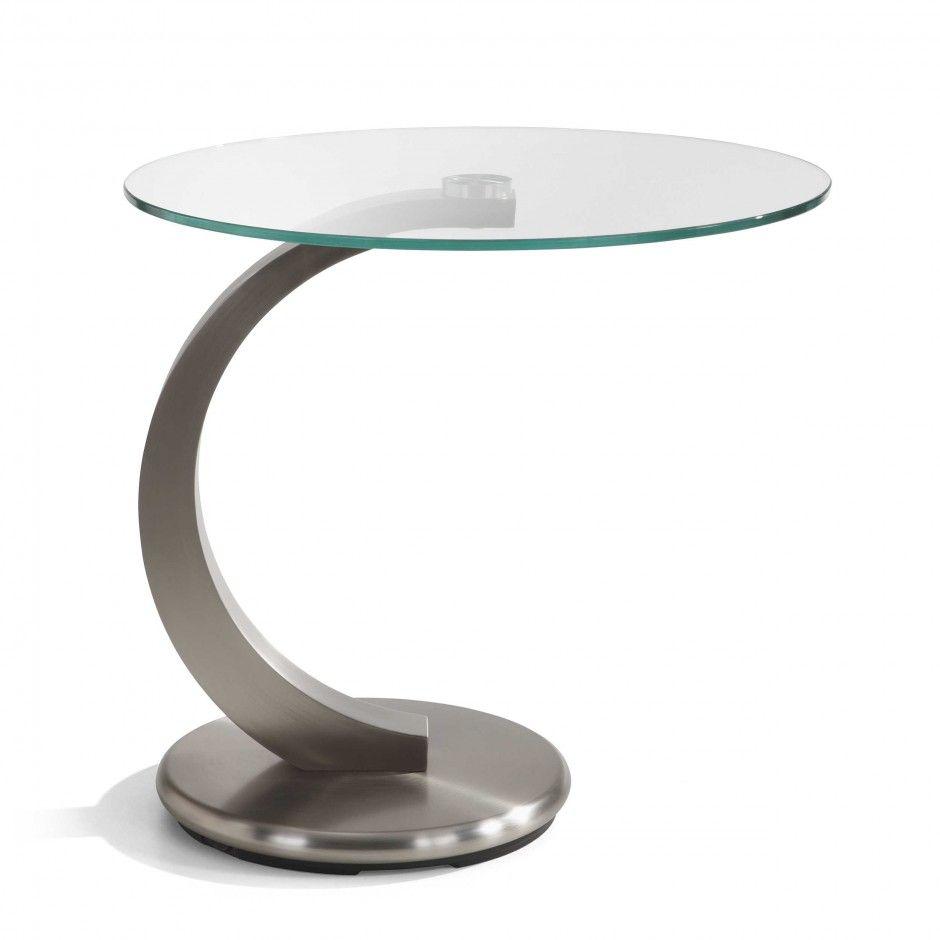 Beistelltisch Cosenza Transparent 50 Cm Glas Bei Daheim De Side Table Table Home Decor
