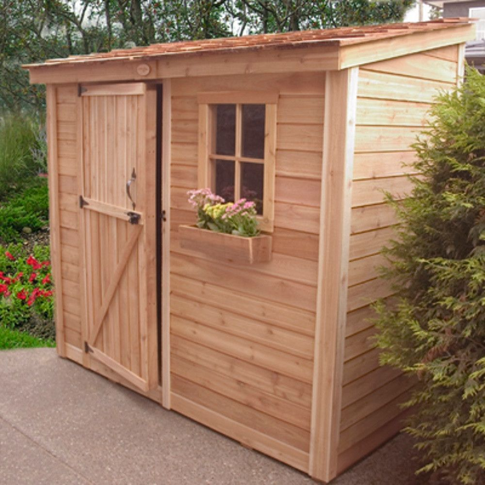 Small storage shed plans with a beautiful