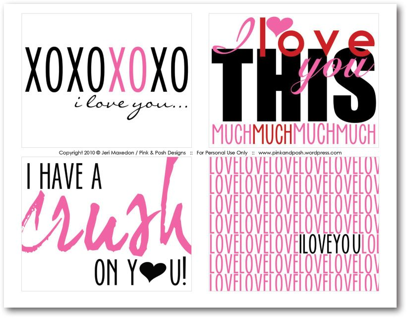 17 Best images about Valentine Card Ideas – Valentine Cards to Print