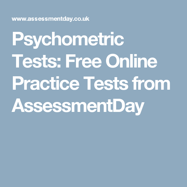 Psychometric Tests: Free Online Practice Tests from