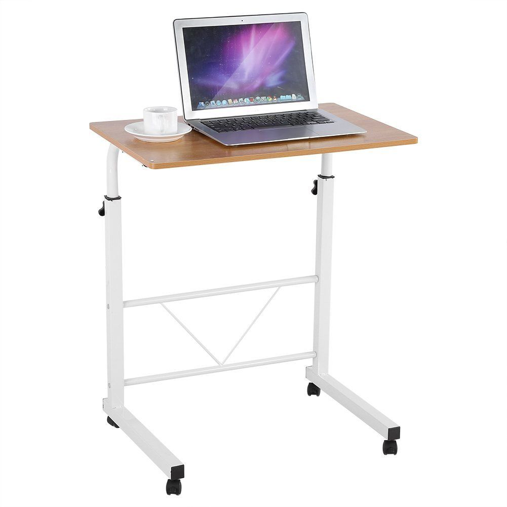 Amazon Com Adjustable Mobile Laptop Desk Height Adjustable Laptop Computer Table Sofa Bedside Portable Standing No Portable Desk Desk Adjustable Height Desk
