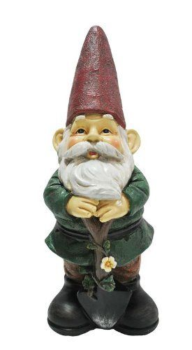 KelKay 4806 Gardener Gnome Garden Decor Statue