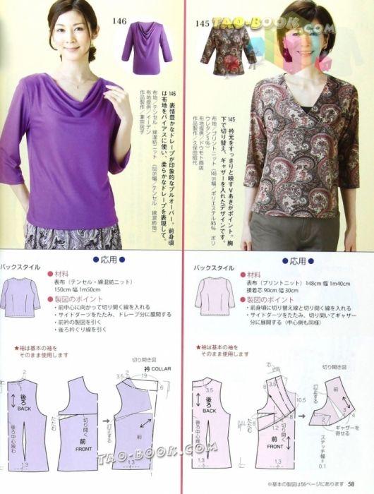 blusas com moldes | Blusas | Pinterest | Nähen