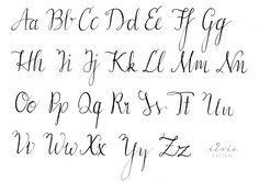 Moderne Kalligraphie Inspiration Buchstaben Kalligraphie