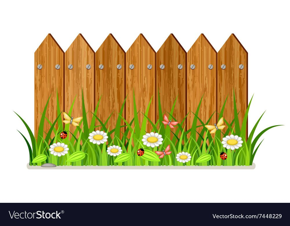 Wooden Fence Vector Image On Vectorstock Wooden Fence Farm Animals Birthday Party Clip Art Borders