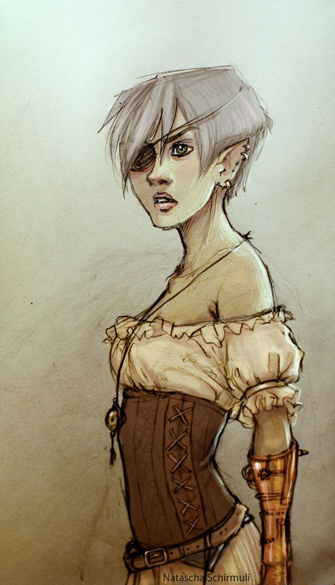 Steampunk Elf Pirate By Draakh With Images Steampunk Elf